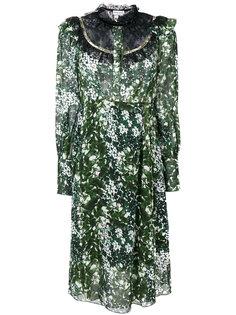 платье с принтом и кружевным воротником  Sonia Rykiel