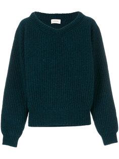 свитер с широким V-образным вырезом  Lemaire
