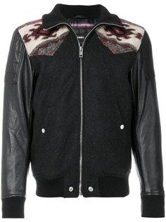 куртка-бомбер с контрастными панелями Diesel