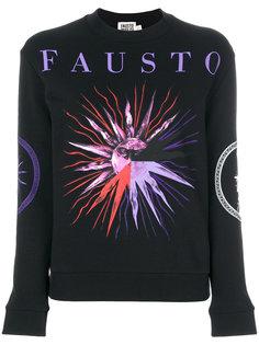 толстовка с логотипом и принтом  Fausto Puglisi
