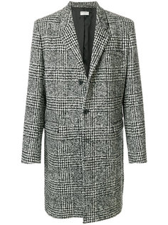 однобортное пальто в клетку Éditions M.R