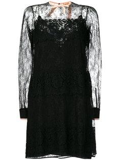 платье с кружевной вставкой Nº21