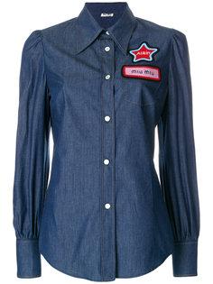 джинсовая рубашка Name Miu Miu