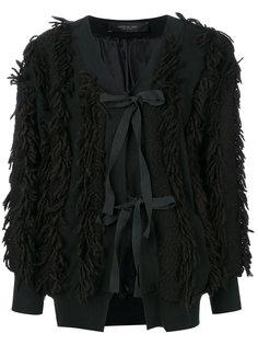 lace-up fringed jacket  Federica Tosi