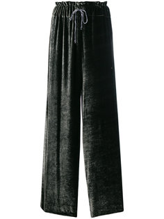 бархатные брюки клеш  Federica Tosi