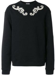 свитер с аппликацией Versace Collection
