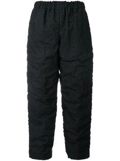 укороченные брюки со сборками Comme Des Garçons