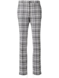 клетчатые брюки с манжетами на молнии Off-White