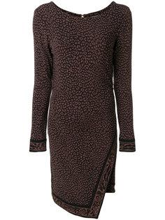 приталенное платье с леопардовым принтом  Michael Michael Kors