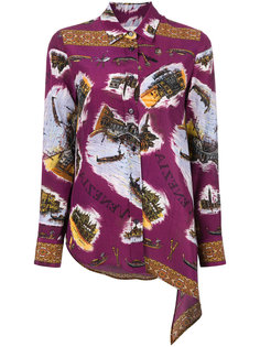 асимметричная рубашка с вышивкой  Golden Goose Deluxe Brand