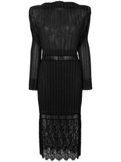 кружевное платье с плиссировкой Stella McCartney