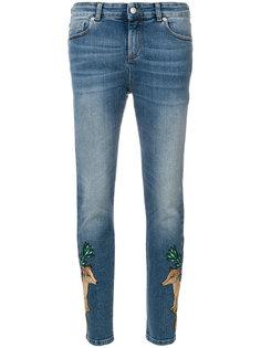 джинсы скинни с нашивкой  Alexander McQueen