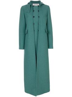 двубортное длинное пальто Valentino