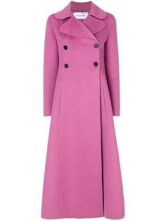длинное строгое пальто Valentino