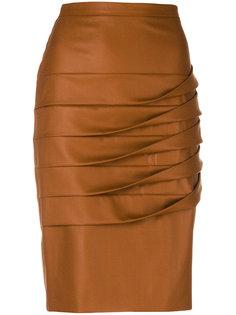 юбка с плиссированной драпировкой Marco De Vincenzo