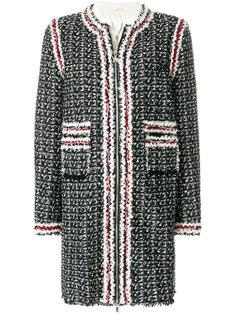 пальто со вставками  Moncler Gamme Rouge