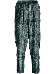 бархатные брюки с принтом икат  Forte Forte