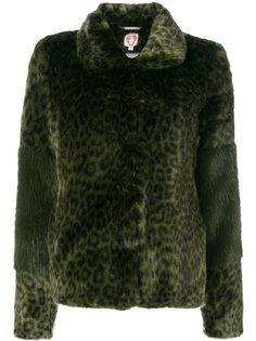 пальто из искусственного меха с леопардовым принтом Alpin Shrimps
