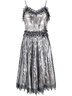 плиссированное платье металлик  Marco De Vincenzo