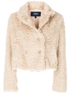 cropped faux fur jacket Armani Jeans