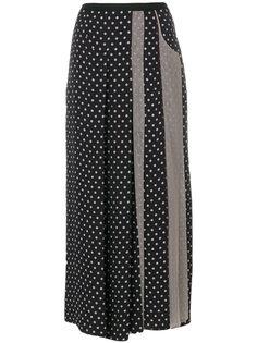 юбка макси в горох со вставкой из тюля  Antonio Marras