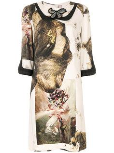 платье с принтом бабочек  Antonio Marras