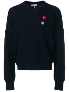 свитер с вышитым логотипом Lanvin