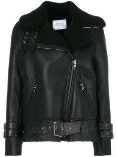 пальто-бомбер с овечьей шерстью  Forte Couture