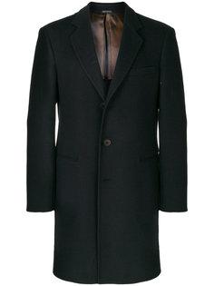 классическое однобортное пальто Giorgio Armani