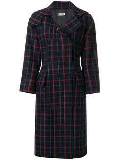 plaid concealed button coat  Alberto Biani