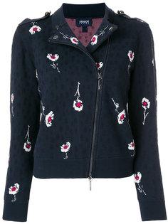 байкерская куртка с вышивкой  Armani Jeans