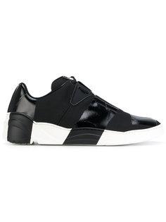 кроссовки слипон с лакированными панелями Dior Homme
