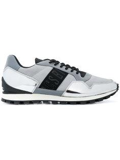 кроссовки со шнуровкой и панельным дизайном Dirk Bikkembergs