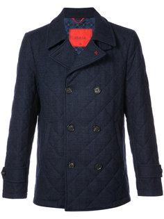 двубортная куртка Isaia