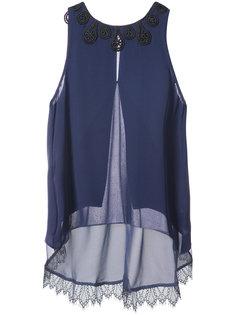 блузка с вышивкой на вырезе Jonathan Simkhai