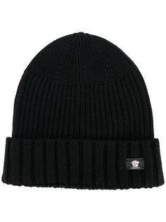 шапка в рубчик с логотипом Versace