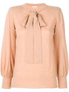 блузка с крупным бантом Chloé