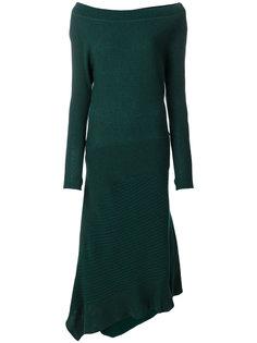 длинное трикотажное платье Paco Rabanne