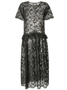 кружевное платье макси  Uma Wang