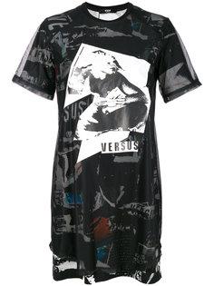 платье с принтом  Versus