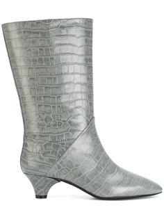 ботинки с эффектом крокодиловой кожи Marni