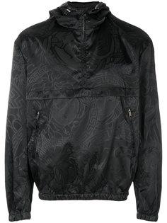 куртка с капюшоном с логотипом Versace