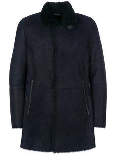 пальто из овчины Giorgio Armani