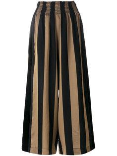 широкие брюки в полоску  Forte Forte