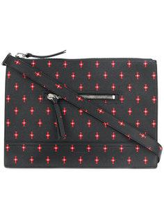 сумка-почтальонка с геометрическим узором Givenchy