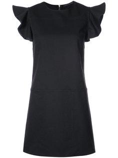 платье с рюшами на рукавах Harvey Faircloth