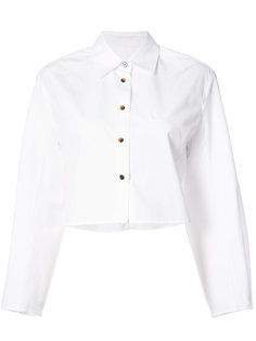 укороченная рубашка с рукавами-фонариком Khaite