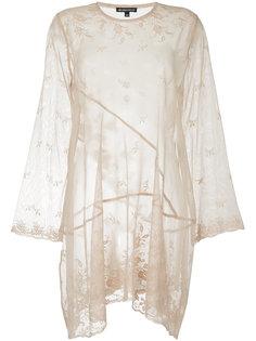 прозрачное кружевное платье  Ann Demeulemeester