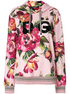 худи с розами Dolce & Gabbana