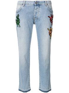 прямые джинсы с вышивкой Gaelle Bonheur